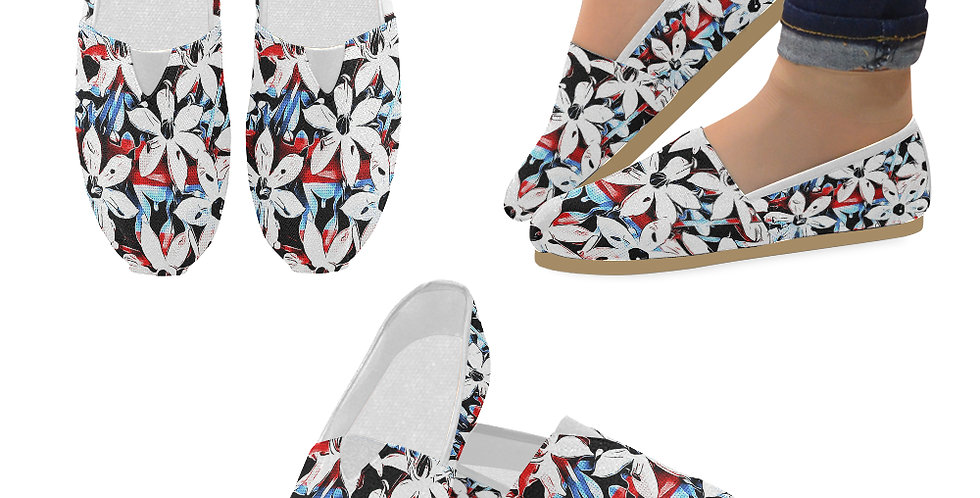 Patriotic Lily - Slip On Canvas Shoes