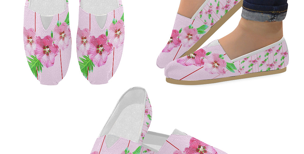 Xanadu Pink - Slip On Canvas Shoes
