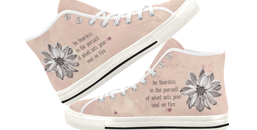 Be Fearless - Women's High Top Canvas Sneakers