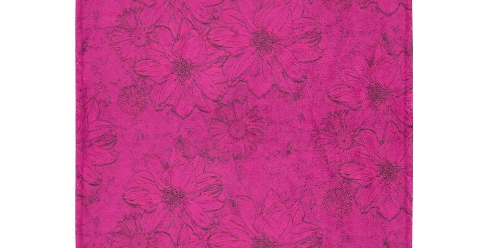 Embossed Floral - Deep Pink - Blanket