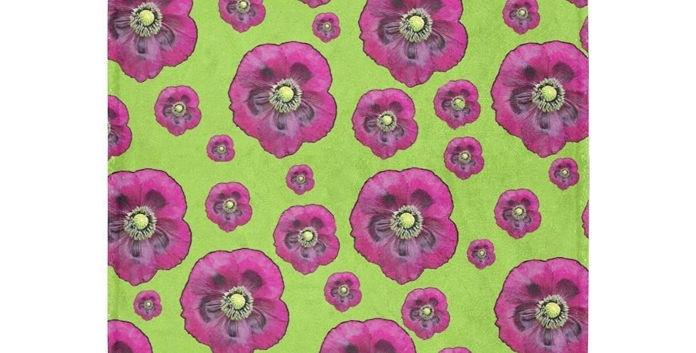 Purple Poppies - Blanket