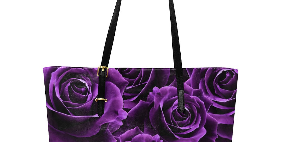 Velvet Rose Purple - Large Tote Bag