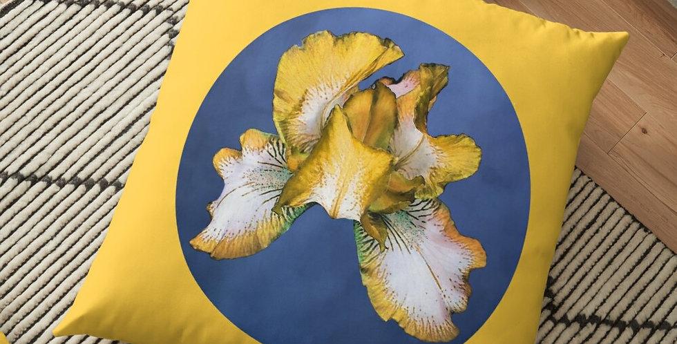 Rainbow Iris - Blue Circle - Cushion Cover