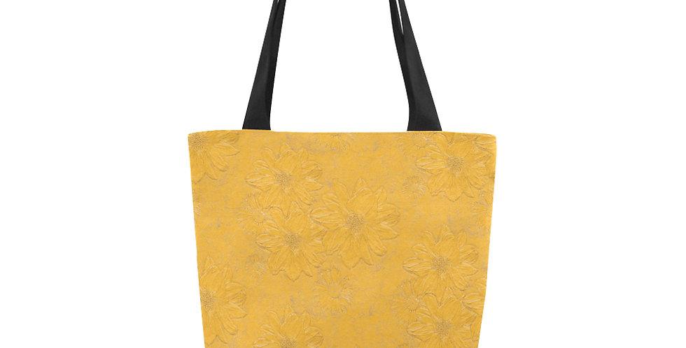 Embossed Floral Yellow - Tote Bag