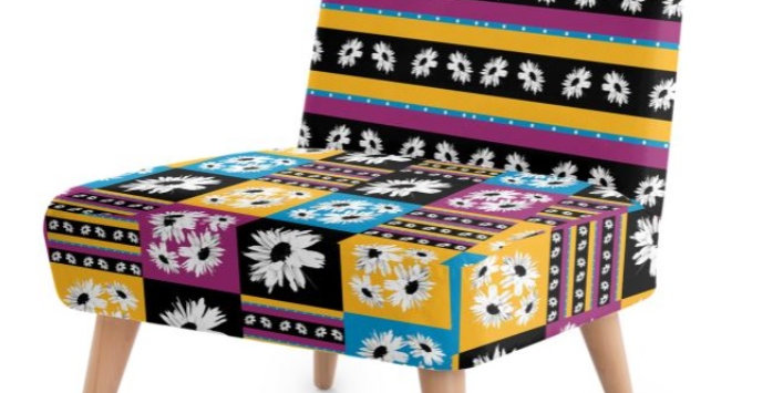 Daisy Love Patchwork - Occasional Chair