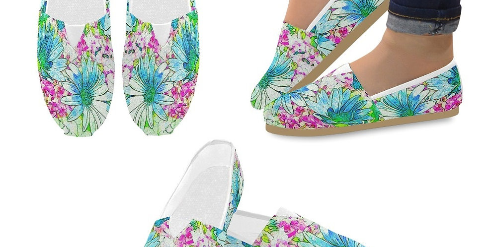 Dancing Daisies - Slip On Canvas Shoes