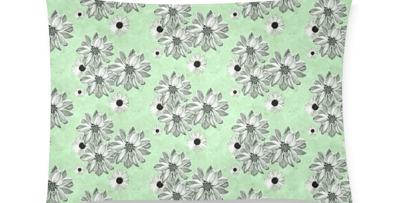 Floral Mint - Cushion Cover