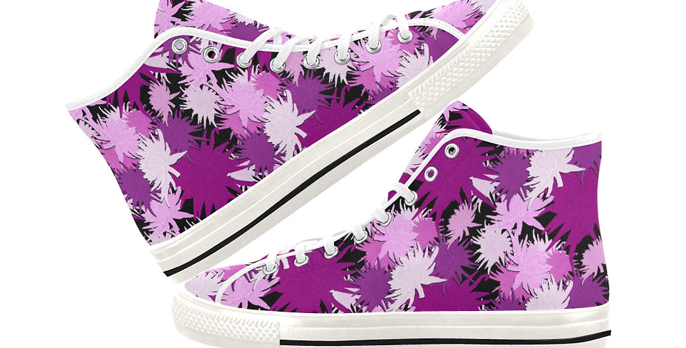 Mrs Rees - Women's High Top Canvas Sneakers