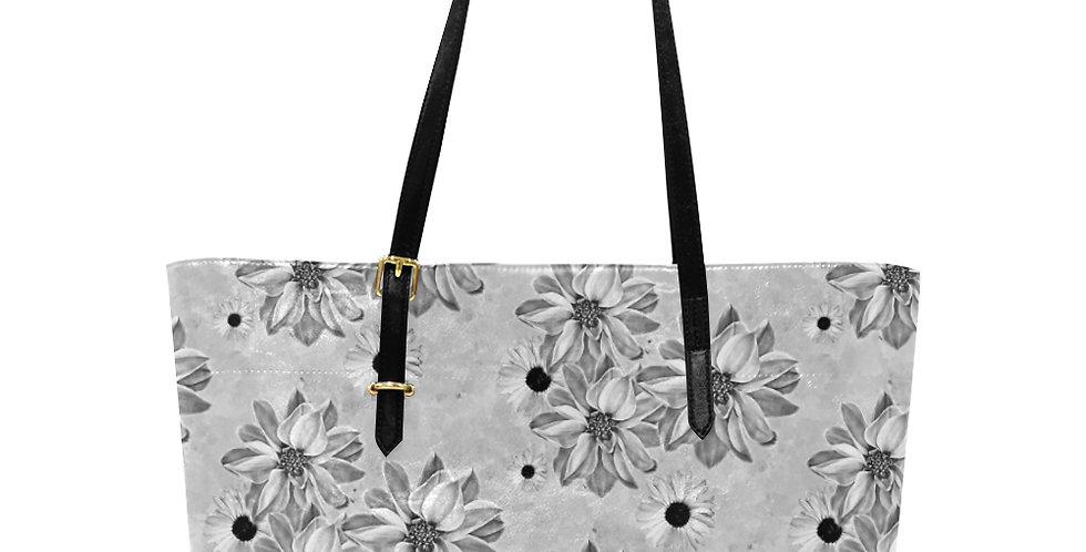 Floral Grey - Large Tote Bag