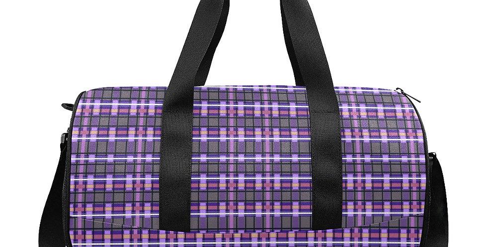 Tartan Terror Purple / Mauve - Gym / Workout / Camping / Travel Duffel Bag