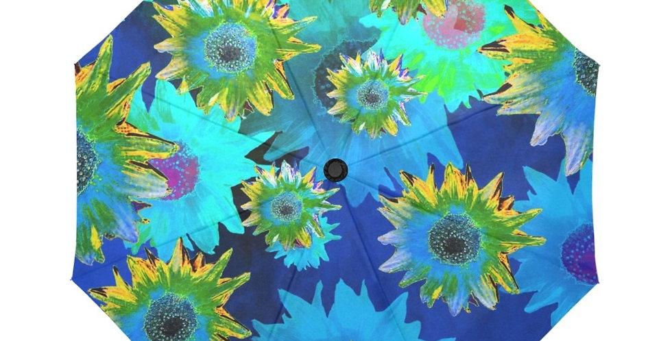 Strawflower Sizzle Blue/Yellow - Botanical Umbrella