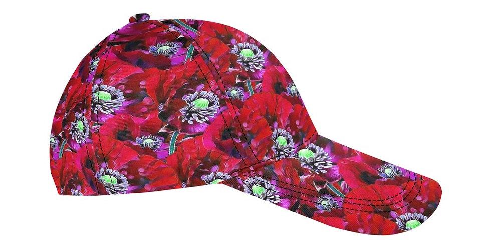 Red Poppies - Baseball Cap