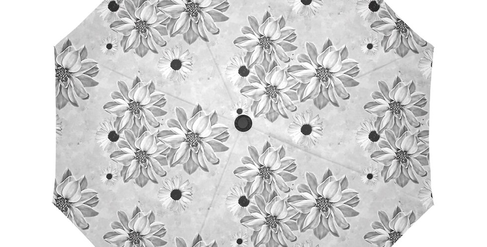 Floral Grey - Botanical Umbrella