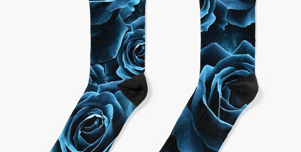 Velvet Roses Teal - Socks