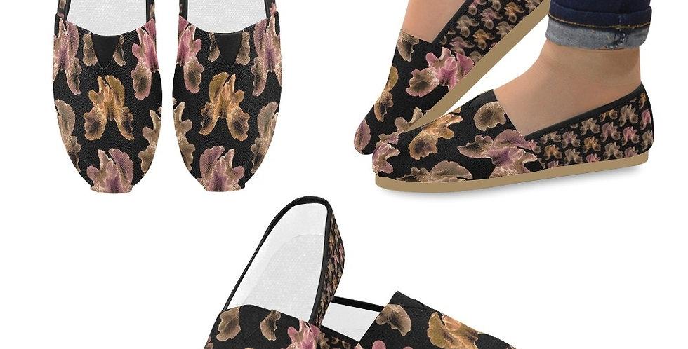 Bearded Iris Diva - Slip On Canvas Shoes