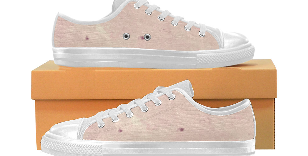 Pink Blush - Women's Canvas Sneakers