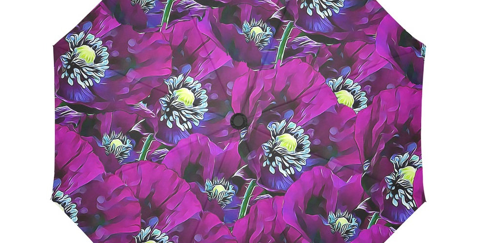 Purple Poppies - Botanical Umbrella