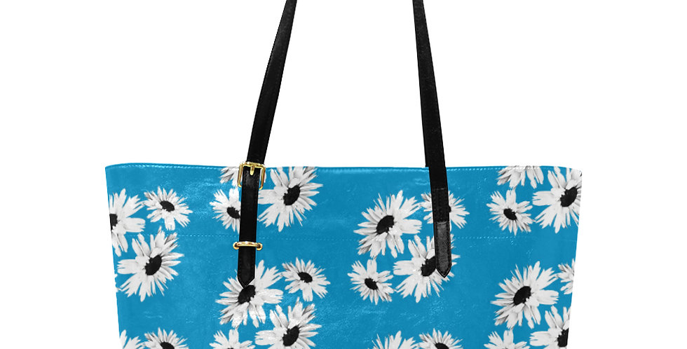 Bunch of Daisies Blue - Large Tote Bag
