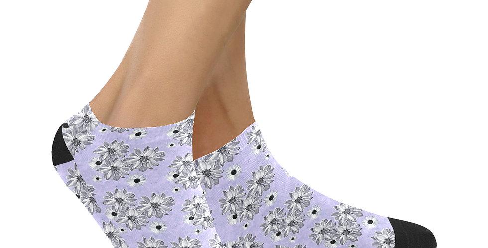 Floral Mauve - Ankle Socks