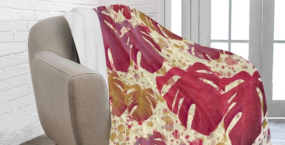 Monstera Leaves - Vintage - Blanket