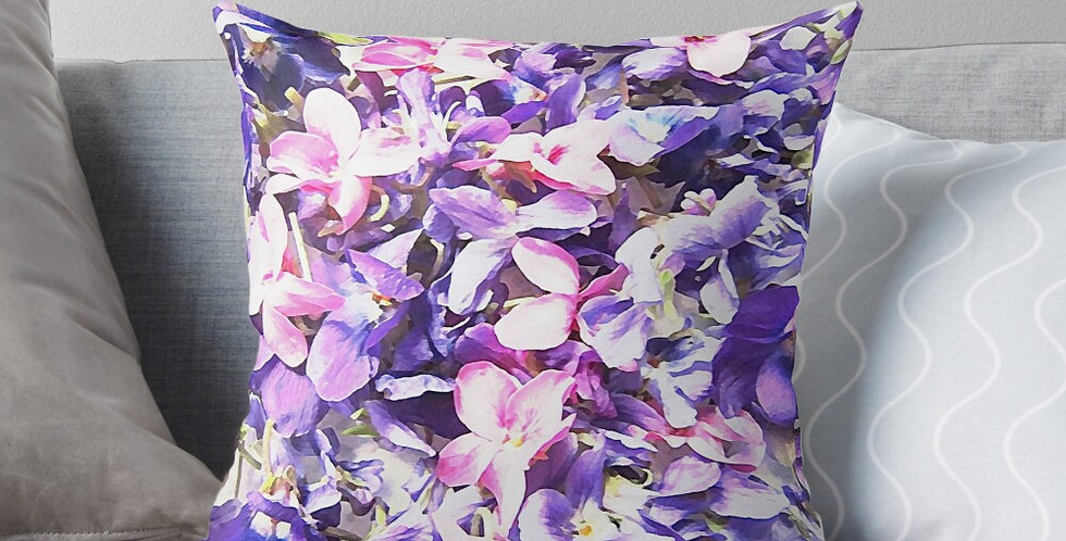 Wild Violets - Cushion Cover