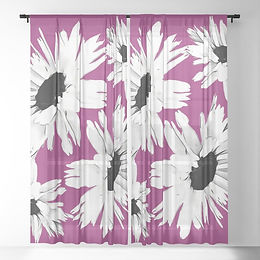bunch-of-daisies-hot-pink-sheer-curtains
