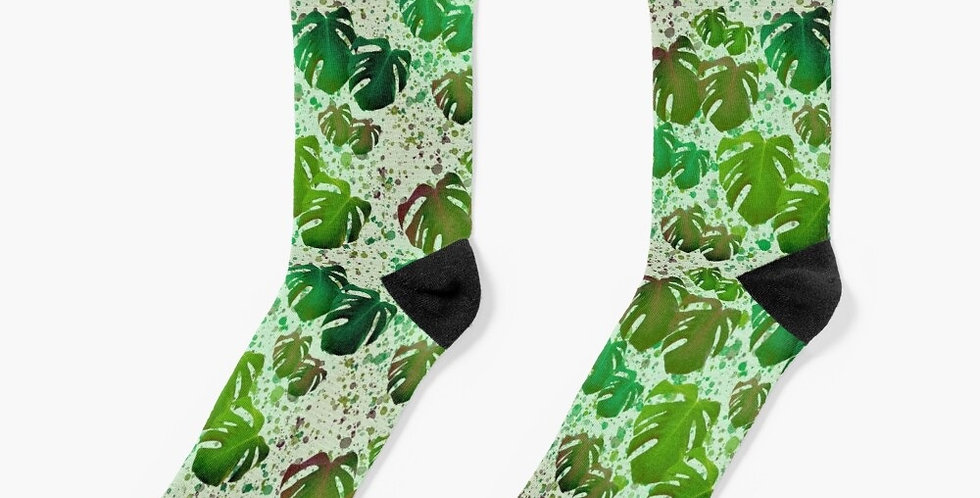 Monstera Leaves Jungle - Socks