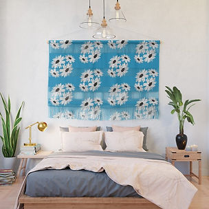 bunch-of-daisies-blue-small-print-wall-h