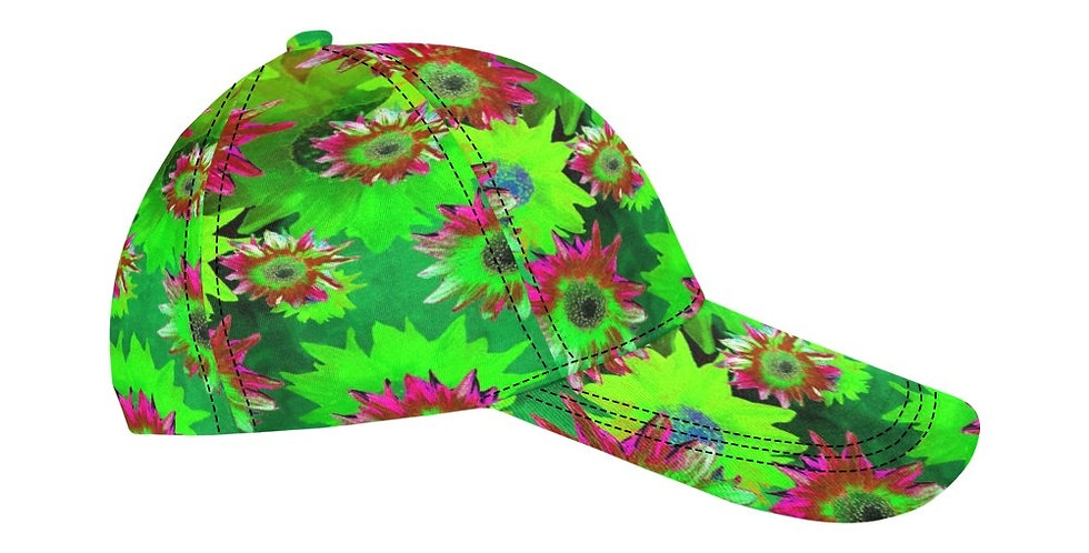 Strawflower Sizzle - Green - Baseball Cap