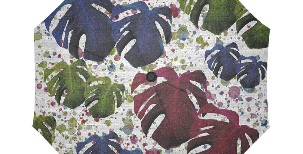 Monstera Leaves Jewels - Botanical Umbrella