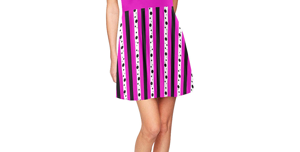 Sweet Passion Stripes - Skater Dress