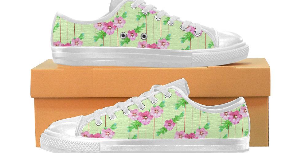 Xanadu Green - Women's Canvas Sneakers