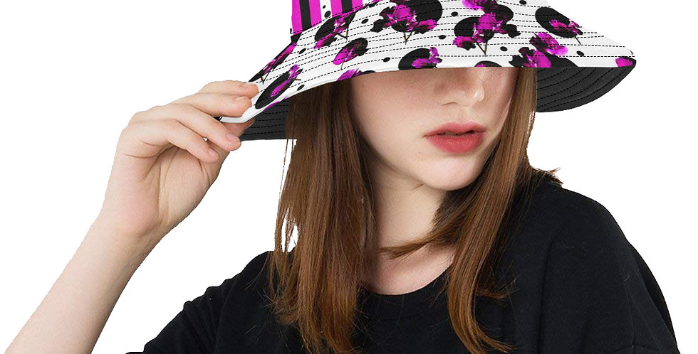 Sweet Pea Passion & Stripes - Bucket Hat