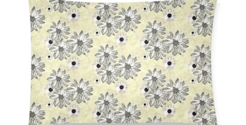 Floral Lemon - Cushion Cover