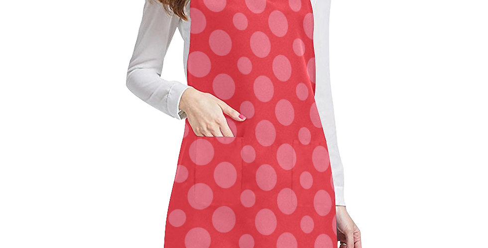 Red Dots Apron - Adjustable