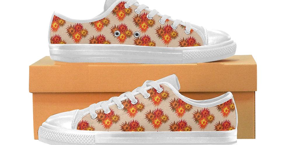 Autumn Flowers - Women's Canvas Sneakers