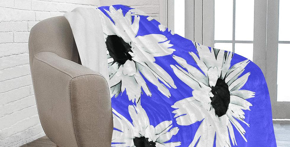 Daisy Love Dark Blue - Blanket