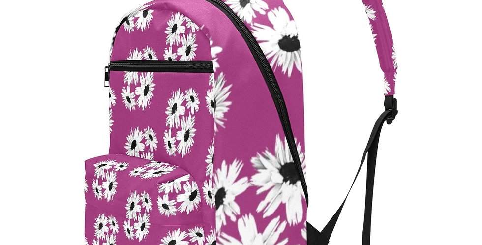 Bunch of Daisies Pink - Travel Backpack (Large Capacity)