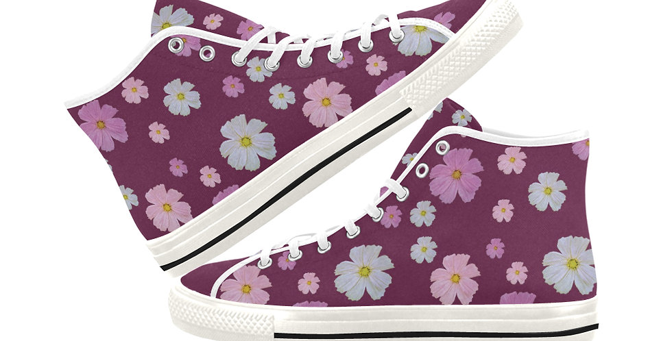 Cosmos and Wine - Women's High Top Canvas Sneakers