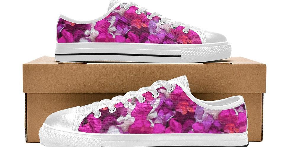 Snappy Pink/Purple - Women's Canvas Sneakers