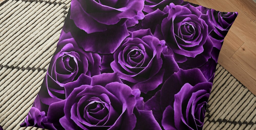 Velvet Roses Purple - Cushion Cover