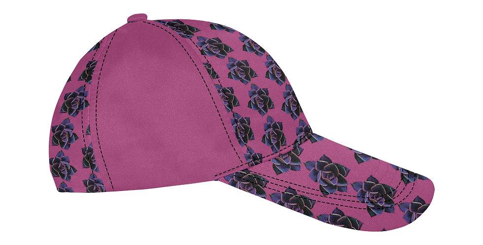 Pink Succulent - Baseball Cap