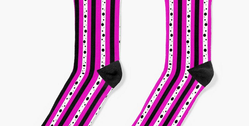 Sweet Pea Passion Stripes - Socks