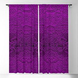 metallic-poppies-purple-blackout-curtain