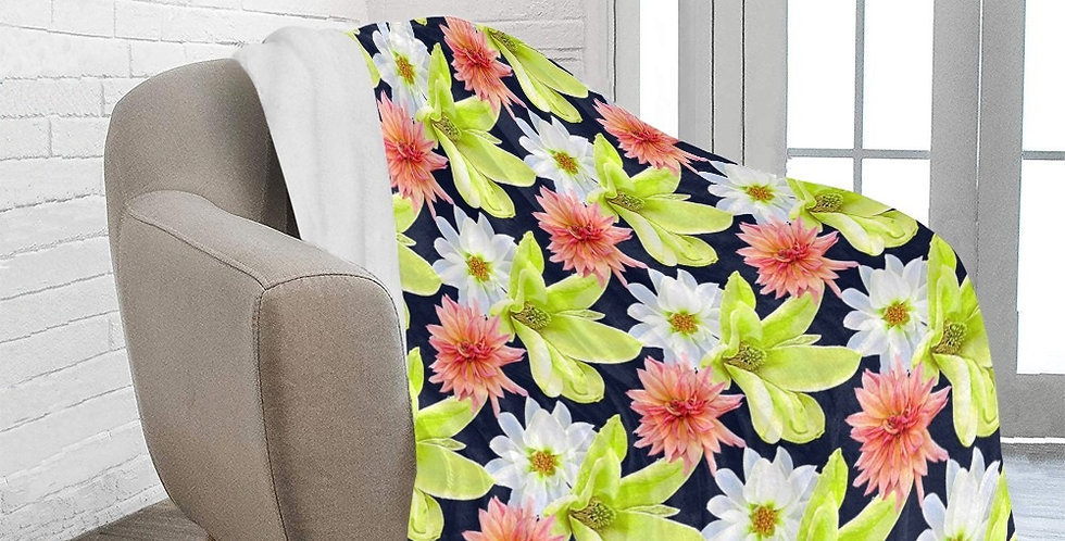 Magnolia Butterflies (small print) - Blanket
