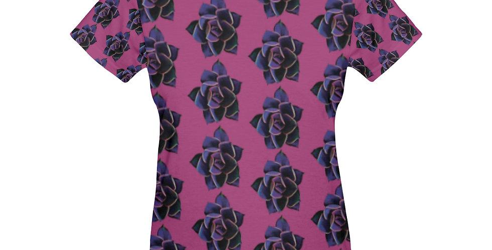 Pink Succulent (small print) - T-shirt