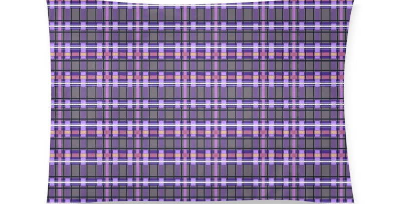 Tartan Terror Purple/Mauve - Cushion Cover