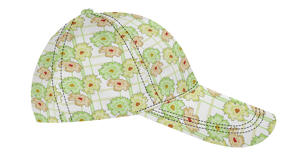 Flower Frenzy Peach/Mint  - Baseball Cap