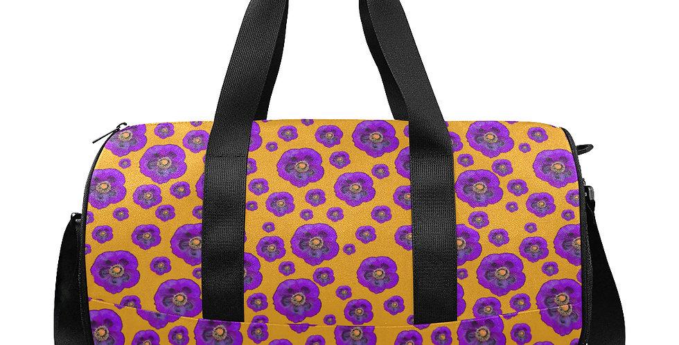 Flower Power Orange/Purple - Gym / Workout / Camping / Travel Duffel Bag