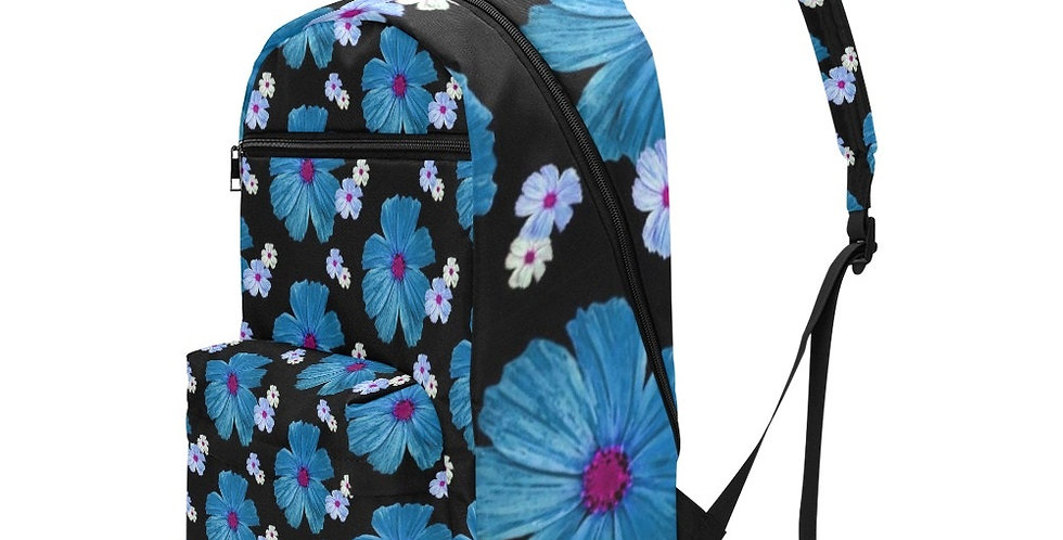 Cosmos Chaos Blue - Travel Backpack (Large Capacity)